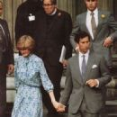 Prince Charles and Lady Diana Spencer attended a final rehearsal prior to their wedding on July 29th - 27 July 1981