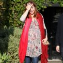 Alyson Hannigan: out of Andy Lecompte hair salon in Los Angeles