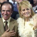 Carlos Saul Menem and Cecilia Bolocco - 454 x 290