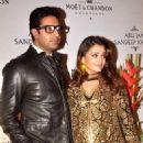 Abhishek Bachchan and Aishwarya Rai at Abu Jani and Sandeep's 25th year bash