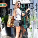 Danielle Lloyd in Denim Shorts – Out in London - 454 x 623