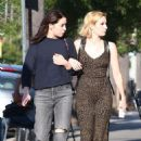 Emma Roberts with a girlfriend out in Studio City