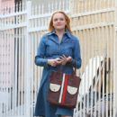 Elisabeth Moss – Filming 'The Kitchen' in New York - 454 x 684