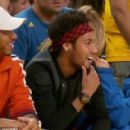 Neymar wowed by LeBron James as Lewis Hamilton joins Barcelona star to watch NBA Finals game two - 454 x 418