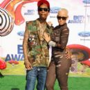 Amber Rose and Wiz Khalifa Attend The 2011 Bet Awards held at The Shrine Auditorium in Los Angeles, California - June 26, 2011 - 391 x 594