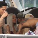 Blac Chyna and Mechie Celebrate Labor Day at a Yacht Party in Miami, Florida - September 4, 2017 - 454 x 320