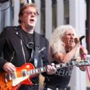 Dee Snider and guitarist Jay Jay French of Twisted Sister perform during 'FOX & Friends' All American Concert Series outside of FOX Studios on July 25, 2014 in New York City. - 454 x 303