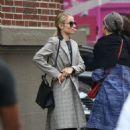 Dianna Agron in Long Coat – Out in New York - 454 x 699
