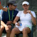with her coach