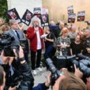 Brian May leads an anti-fox hunting rally for PETA on July 14, 2015 in London, England. - 454 x 284