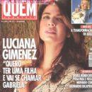 Luciana Gimenez poses for Quem Acontece magazine in 2004