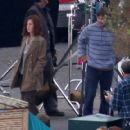 "Jennifer Aniston Goes Brunette On The Set Of ""He's Just Not That Into You"", October 11 2007"