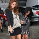 Una Healy Arriving at ITV Studios 2011 Nov