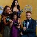 Sofia Vergara winner of Outstanding Performance by an Ensemble in a Comedy Series for Modern Family at the 20th Annual Screen Actors Guild Awards at The Shrine Auditorium on January 18, 2014 in Los Angeles