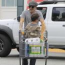 Olivier Martinez and his son Maceo are spotted out grocery shopping at Bristol Farms in West Hollywood, California on April 10, 2016 - 431 x 600