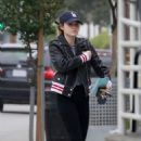 Lucy Hale in Jeans at a gas station in Studio City