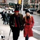 Carolyn & John walking their dog near their Tribeca apartment. - 360 x 487