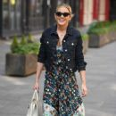 Ashley Roberts in Floral Dress – Outside Heart FM in London