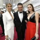 Nicole Kimpel, Antonio Banderas and Stella Banderas At The 92nd Annual Academy Awards - Arrivals - 454 x 332