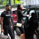 Alice Goodwin in Black Ttight Dress – Eexits 'Celebs Go Dating' with Jermaine Pennant in London - 454 x 681