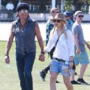 Richie Sambora and Orianthi at Day 3 of first weekend of The Coachella Valley Music and Arts Festival in Coachella, California on April 11, 2015