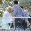 Jay Leno spotted out with friends at the Fontainebleau Hotel in Miami, Florida on January 21, 2015 - 454 x 577