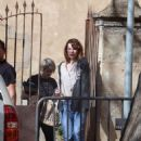Milla Jovovich – Arriving on set of their new film in Barcelona - 454 x 686