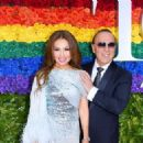 Thalia  and Tommy Mottola- 73rd Annual Tony Awards - Red Carpet - 454 x 325