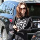 Lily Collins – Leaving her workout in LA
