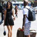 Shanina Shaik In Mini Dress Out In Sydney