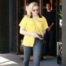 Chloe Moretz in Jeans and Yellow Shirt out in Beverly Hills