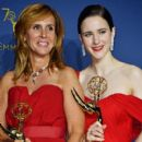 Producer Sheila L. Lawrence and Rachel Brosnahan At The 70th Primetime Emmy Awards - Press Room (2018) - 400 x 600