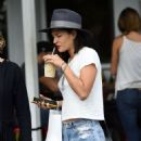 Jessica Szohr at Mauro's Cafe in West Hollywood, October 2016 - 454 x 552
