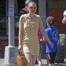Dakota Fanning in Yellow Dress – Out in New York - 454 x 678