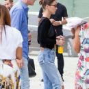 Bella Hadid in Jeans – Out in Milan