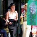Amber Heard – Hailing a cab in Manhattan