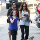 Kate Beckinsale And Family Out Walking Their Dogs