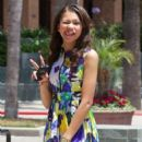 Zendaya Coleman attended an interview at the Grove in Los Angeles, California on July 10, 2012 for the Extra