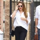 Elizabeth Olsen in Black Pants – Out in Studio City