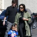 Kim Kardasian and clan go to a roller skating rink in Los Angeles to film an episode of 'Keeping Up With The Kardashians' on April 01, 2016