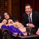 Salma Hayek The Tonight Show With Jimmy Fallon In Nyc