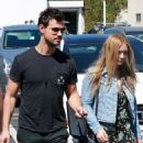 Taylor Lautner and his girlfriend  were seen leaving Fred Segal in West Hollywood, California on March 23, 2017 - 454 x 489