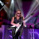 Richie Faulkner of Judas Priest performs on the final night of the band's Firepower World Tour at The Joint inside the Hard Rock Hotel & Casino on June 29, 2019 in Las Vegas, Nevada - 454 x 333