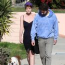 Shia LaBeouf And Carey Mulligan Out Walking Their Dog