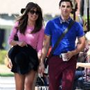 Lea Michele On The Set Of Glee In Glendale