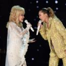 Dolly Parton and Miley Cyrus At The 61st Annual Grammy Awards - 454 x 302