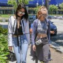 Gigi Hadid  are spotted going to lunch in West Hollywood, California on June 2, 2016