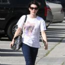 Emma Roberts - Carries Her IPad After Getting Her Hair Colored Black, Los Angeles - June 9, 2010