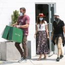 Ana De Armas – Looks cute in summer dress with Ben Affleck at Nick Fouquet hat shop in Venice - 454 x 379