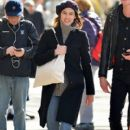 Alexa Chung was spotted walking with her on-again, off-again boyfriend Matthew Hitt in the SoHo district of New York City, New York on March 20, 2017
